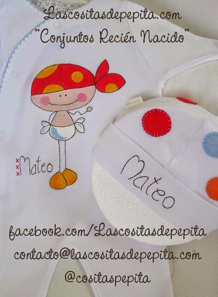 Las cositas de Pepita: Conjuntos de pijama y gorrito, para que tu bebe du...