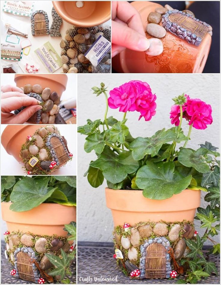 Turn a Terracotta Planter into a Cute Fairy House 1