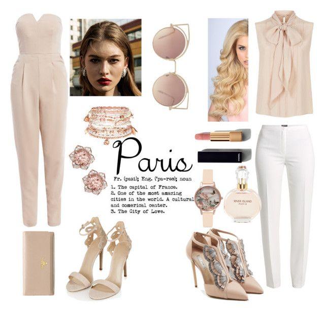 P¤Г¡§ by kaykaydabosss on Polyvore featuring polyvore fashion style MaxMara AX Paris Basler Olgana Topshop Prada Accessorize Olivia Burton MANGO Chanel River Island clothing