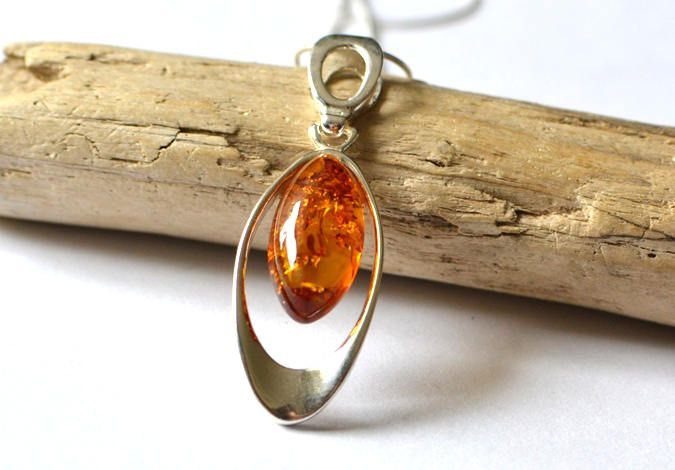 Amber Necklace, Natural Amber Pendant, Amber Jewellery, Real Amber Jewelry, Handamde Gift Jewelry by KARUBA on Etsy