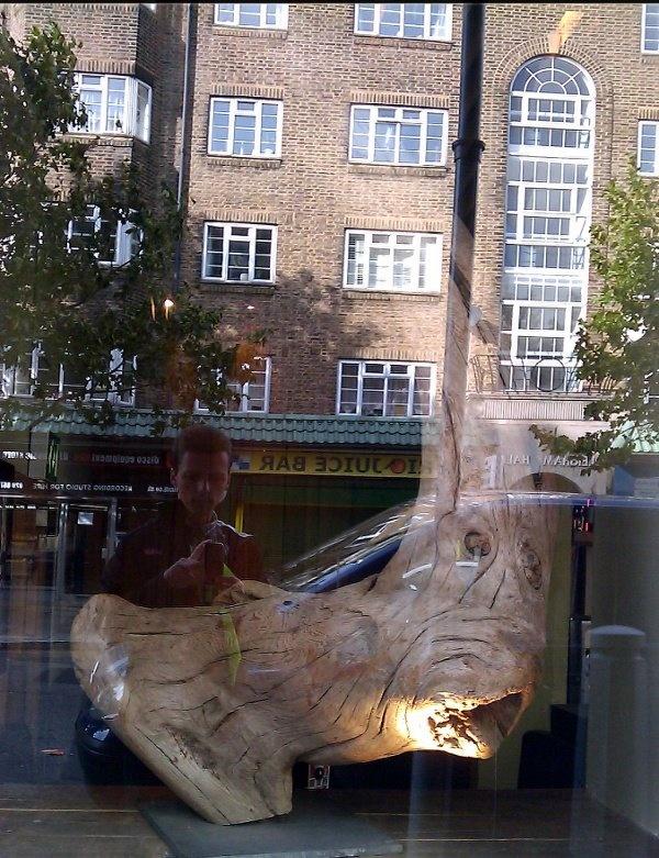 Restaurant window in Streatham Common, London.