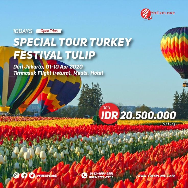 TURKEY SPECIAL TULIP FESTIVAL⁠ DEPTARTURE 1 APR 2020