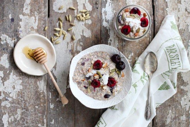 Nutrition Stripped | Cherry Cardamom Bircher Muesli | http://nutritionstripped.com/cherry-cardamom-bircher-muesli/