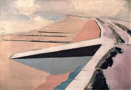 The Shore (at Dymchurch) 1923, Paul Nash – just perfect. One of the vey few paintings I would dearly, dearly love to own.