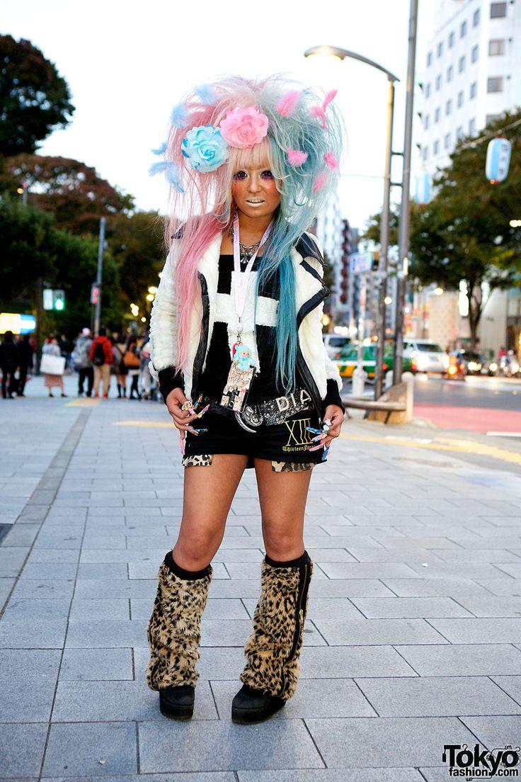 Harajuku Gal W Rainbow Eye Makeup Silver Hair In Anap: 16 Best Gal Tokyo Images On Pinterest