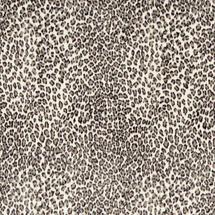 Snow Leopard Print Fabric Upholstery Animal Print