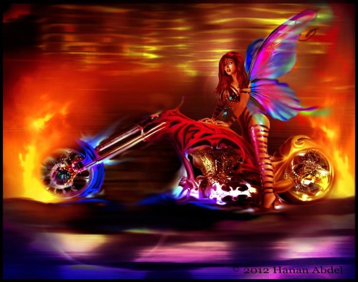 Fairy on a chopper