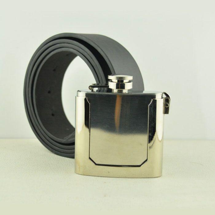 New 2015 Stainless Steel Flask Cowboys Belt Buckles Novelty Men'S Pu Leather Belts Fits Jeans Men Accessories Cintos Fivelas