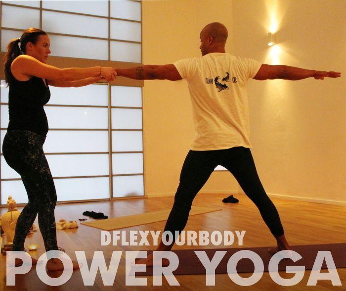 Power Yoga med Lena Bergh och David 'Dflex' Seisay #asana #warriorpose #komiform #pt #personligträning #pesonligtränare