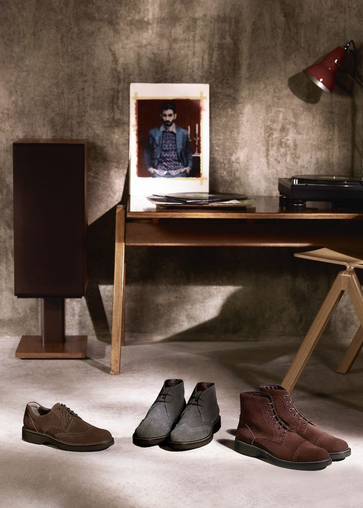 Introducing the #HOGAN ROUTE Collection in soft suede for #CasualBusiness. Discover Men's English vintage-style.