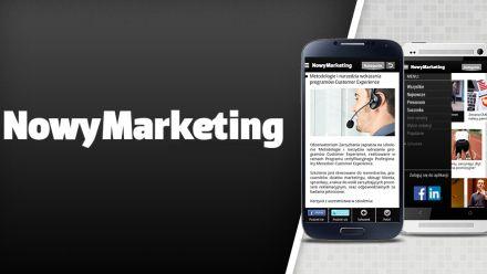 Aplikacja mobilna NowyMarketing w App Store i Google Play