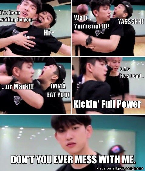 Dont ever mess with omma jinyoung, she (he) is powerful