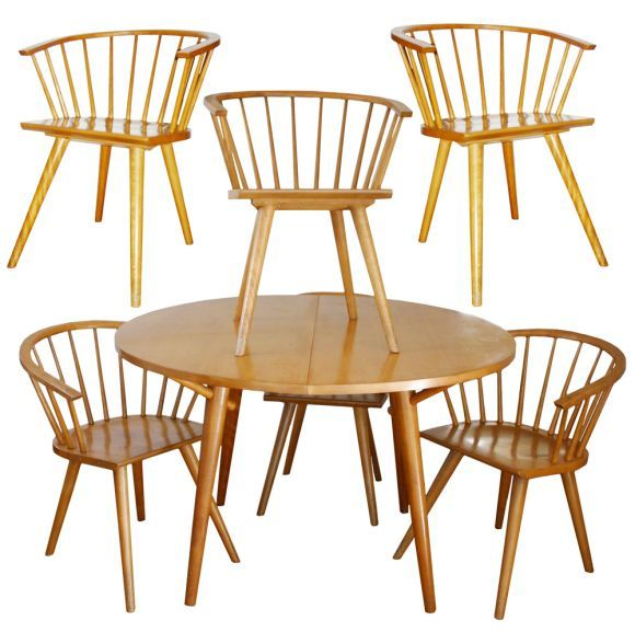 1stdibs.com | Russel Wright Conant Ball Table With 6 Chairs