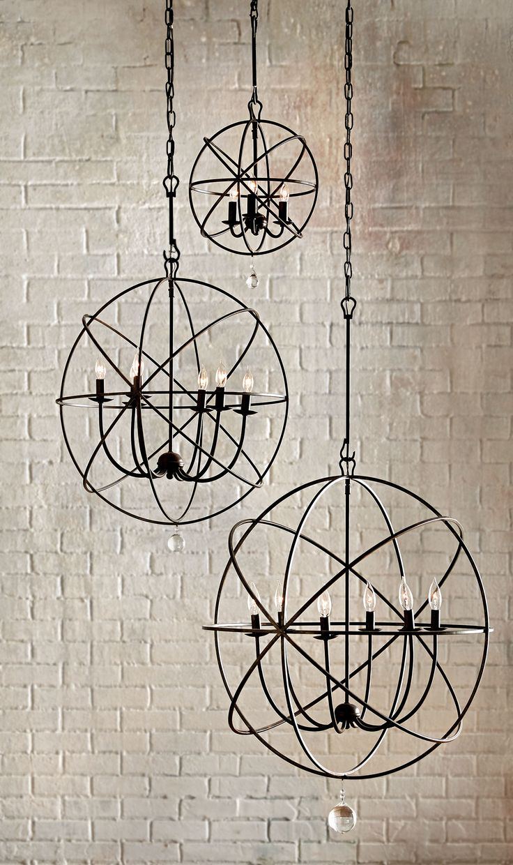This steel, modern chandelier comes in three different shapes. Great for an entryway or dining room, the Solaris Chandelier will give your room an updated look you'll love.