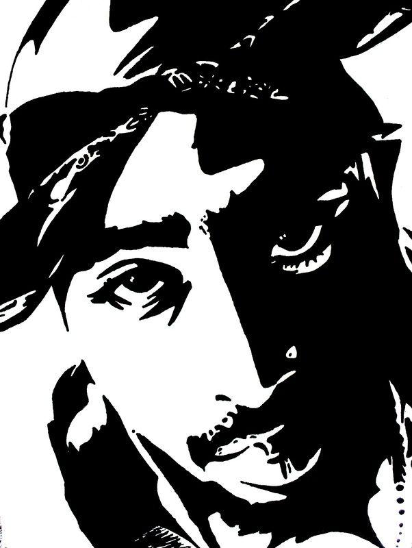 Contrast 2 Tupac Art Silhouette Art Tupac Artwork
