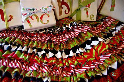 no sew christmas tree skirt!