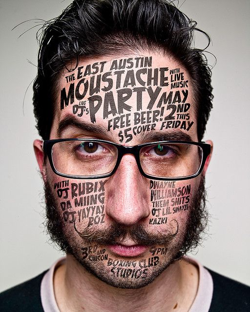 mustache #typography #Fonts #type