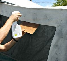 Cleaning & Waterproofing Your Pop Up Camper Canvas - The Pop Up Princess