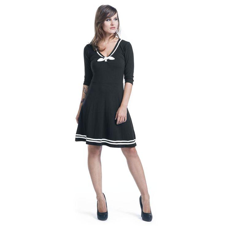 """Pussy Deluxe Mittellanges Kleid, Frauen """"Sailor Dress"""" schwarz • EMP"""