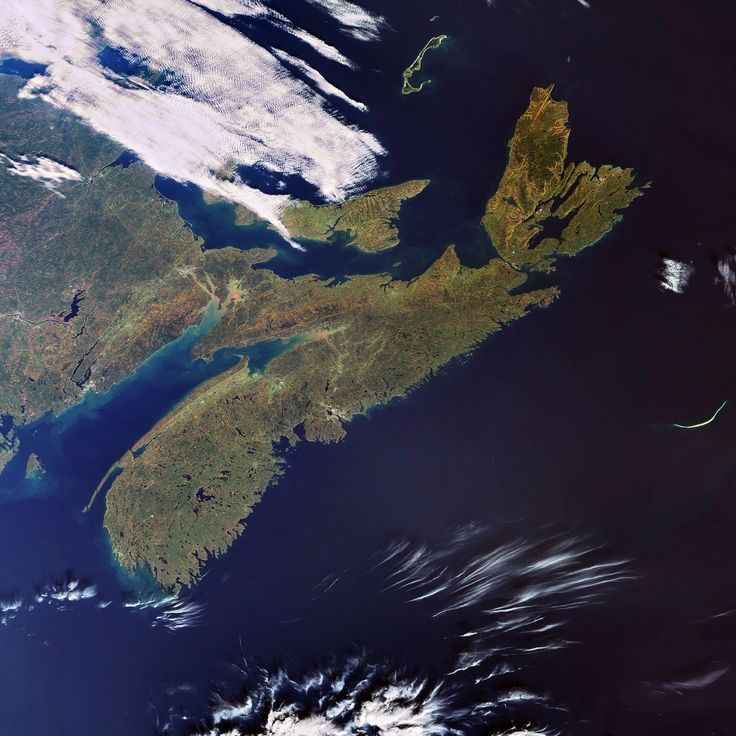 The view of Nova Scotia from space.