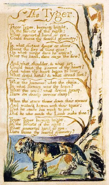 William Blake created his own artwork for his Songs of Innocence and Experience and the Book of Thel.