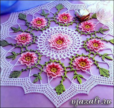 Pattern is called ''Spring Always'' from Magic Crochet Volume 64, February 1990. Designer is Mayumi Soto. She has a designer page on Ravelry.