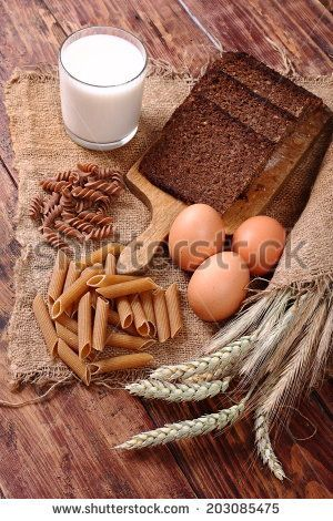 Healthy bread and pasta with whole grains