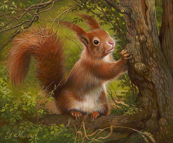 Artist: Yana   Movchan, Title: Little Squirrel - click to close window