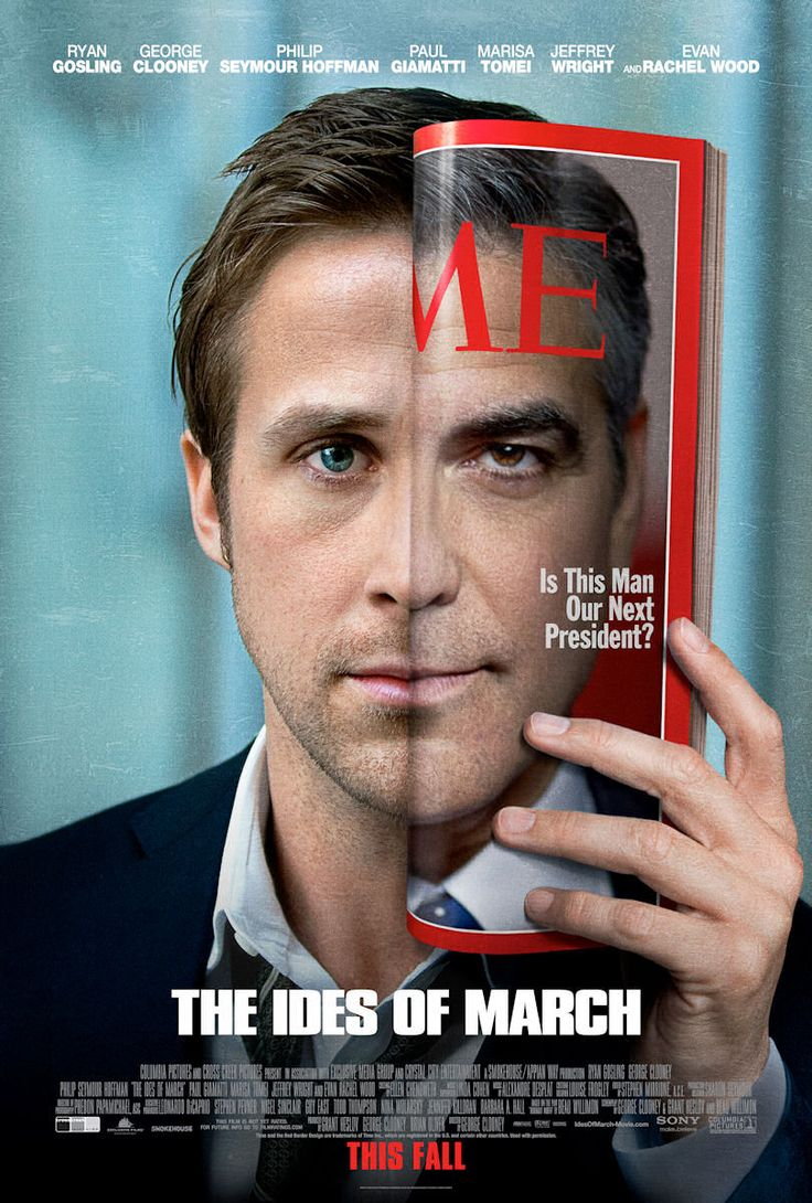 ides of march: Ryan Gosling, Movie Posters, George Clooney, Marching, Good Movie, Georgeclooney, Here, Film Posters, Ryangosl
