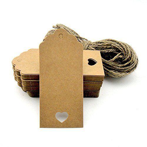 100étiquettes cadeau/Kraft Étiquettes cadeaux ficelles prédécoupées pour travaux manuels et étiquettes de prix Étiquettes festonnées Style Couleur, http://www.amazon.fr/dp/B00YK8KDLY/ref=cm_sw_r_pi_awdl_xs_5AxJybEG05H5V