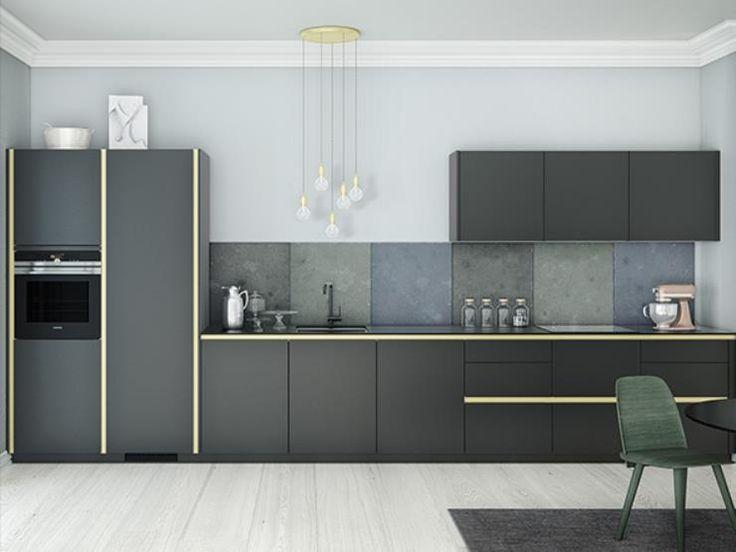 Skap sterke kontraster med markante linjer og ubrutte flater, og få et enkelt og kult kjøkken. Tinta Grey gir deg overraskende mye for pengene.