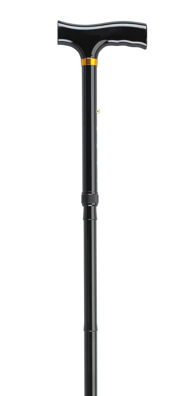 Bariatric Aluminum Folding Cane, Height Adjustable