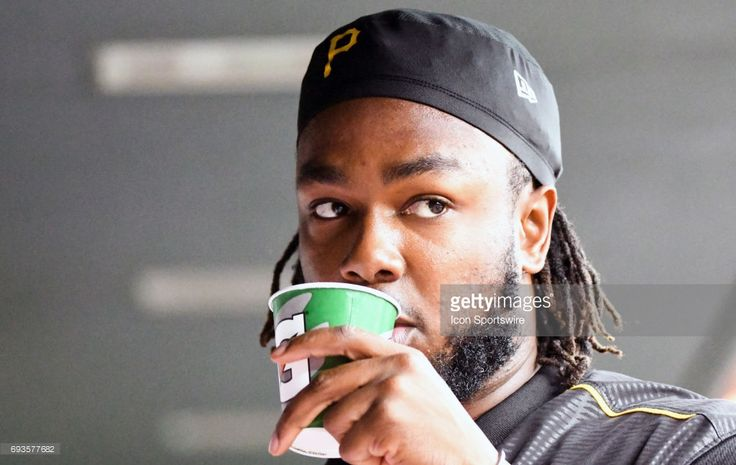 Pittsburgh Pirates first baseman Josh Bell (55) warms up during an MLB game between the Pittsburgh Pirates and the Baltimore Orioles on June 07, 2017 at Orioles Park at Camden Yards in Baltimore, MD.