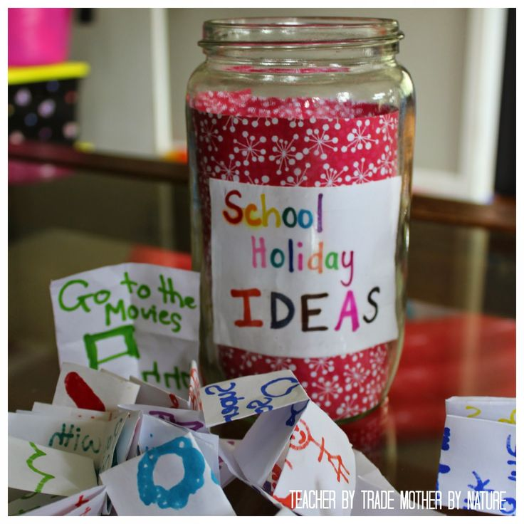 Teacher by trade - Mother by nature: School Holiday Ideas Jar - 2015 Edition