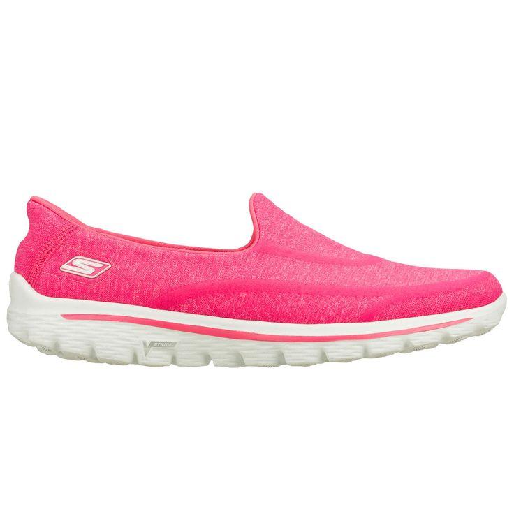 SKECHERS GO WALK 2 SUPER SOCK pinkDe Skechers GOWALK2 Supersock is 50 % schoen en 50% sok, dit maakt de GOWALK2 100% comfortabel.