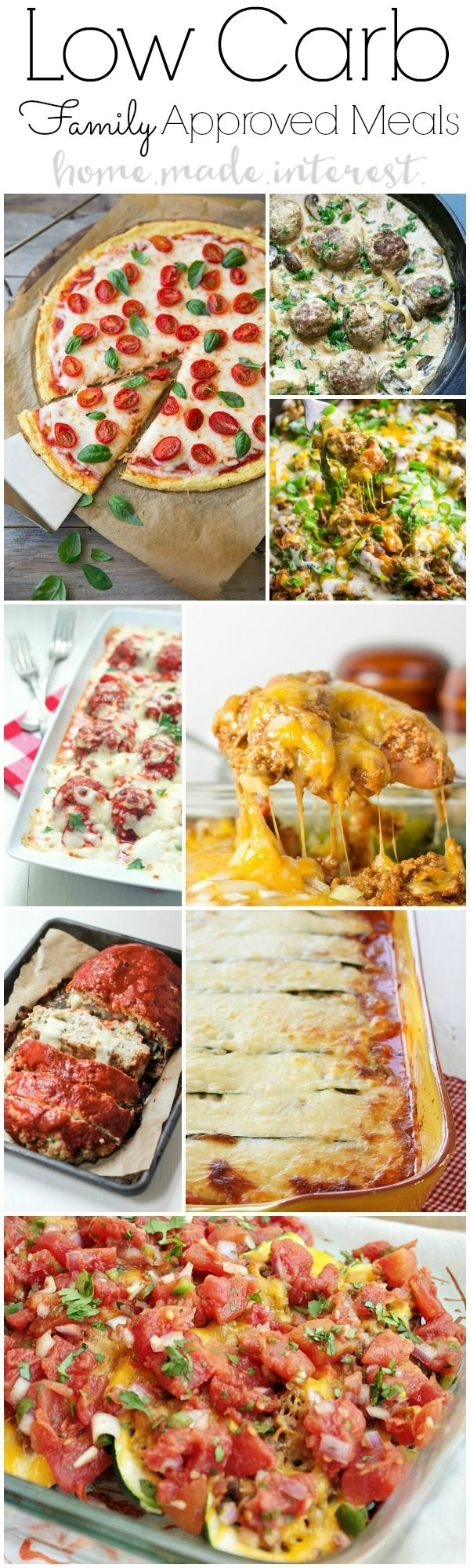 Low Carb dinner ideas that are kid and family approved. Healthy doesn't have to taste bad. Low carb diets and lifestyles are becoming very popular. Exercise and eat low is a great way to lose weight.Low carb dinner recipes for family will make meal time much easier!