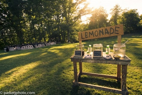 Lemonade Stand at your wedding reception? I think yes!