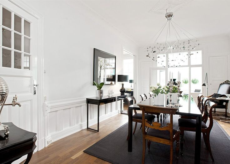 Dining room in apartment in Oslo