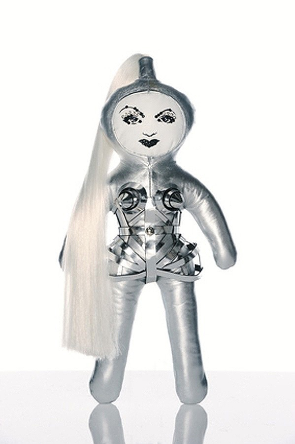 Jean-Paul Gaultier doll for UNICEF's Frimousses Designers for Darfur. #jeanpaulgaultier #madonna
