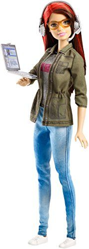 Open young techies to the world of game development with the Barbie game developer doll! The career of the year, young techies can play out the creative fun of this exciting profession She wears an industry-inspired outfit with graphic decal t-shirt, faded denim pants, a dark green jacket and white sneakers.   toys4mykids.com