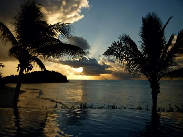 Sunset in Antigua, by Helen Shaw