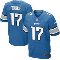 "$78.00--Kellen Moore Jersey - Elite Blue Home Nike Stitched Detroit Lions #17 Jersey,Free Shipping! Buy it now:click on the picture, than click on ""visit aliexpress.com"" In the new page."