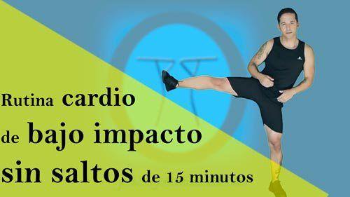 Rutina cardio de bajo impacto - sin saltos