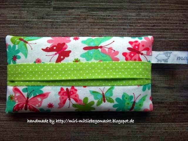 Taschentüchertaschen selbst nähen, Anleitung für Taschentüchertasche, TaTüTa aus Stoffrestren