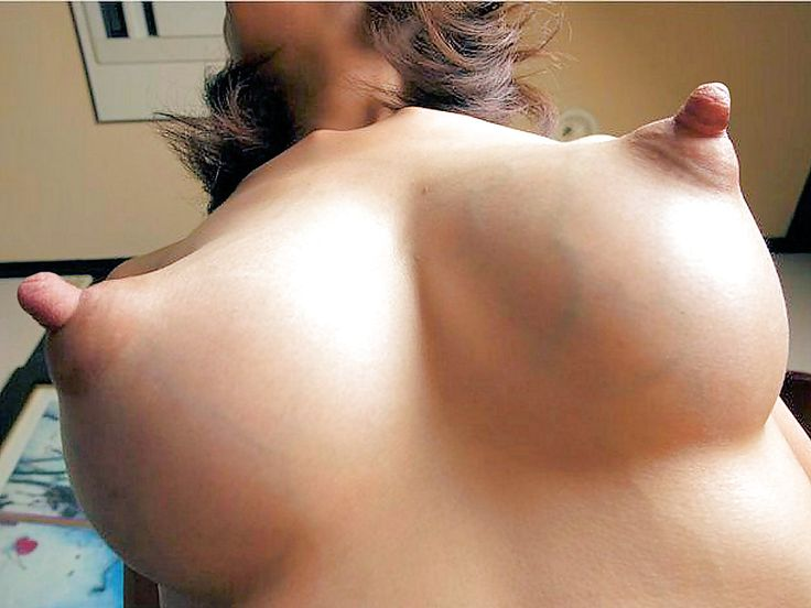 Curiously Big tits hard erect nipples