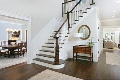 Colonial Mouldings, wood floors, step details
