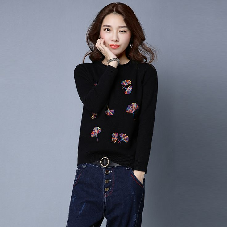 2017 Autumn Winter for women Cashmere sweater loose Warm Knitted Sweet Christmas Pullovers sweaters Casual sweater. Click visit to buy