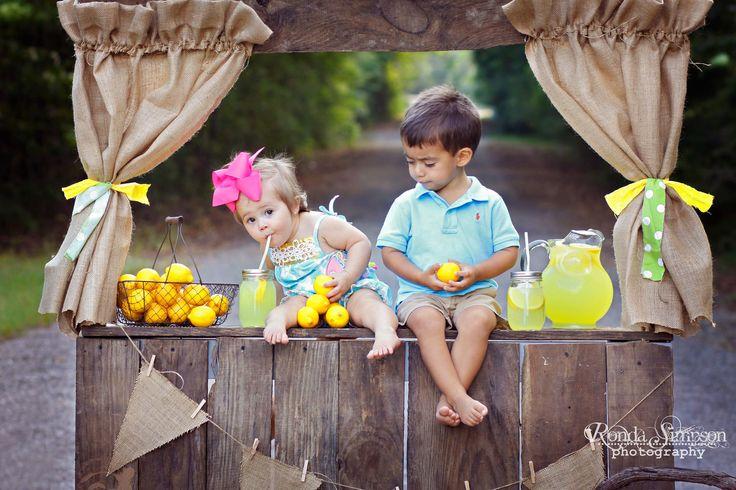 Lemonade Stand Photo Shoot~Children's photography http://rondasimpsonphotography.com