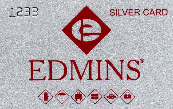 """""""EDMINS Silver card"""" Карта дает право на скидку 7 %  на любую покупку в магазинах EDMINS."""