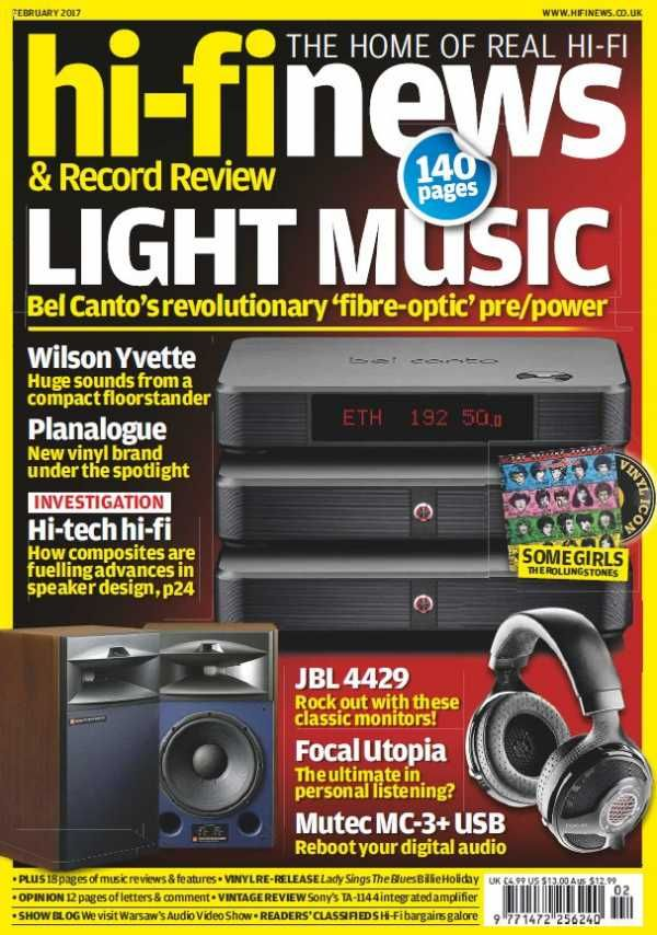 Hi-Fi News - February 2017 English | 140 pages | True PDF | 26 MB Every issue, Hi-Fi News delivers uniquely in-depth reviews of high-end audio equipment,